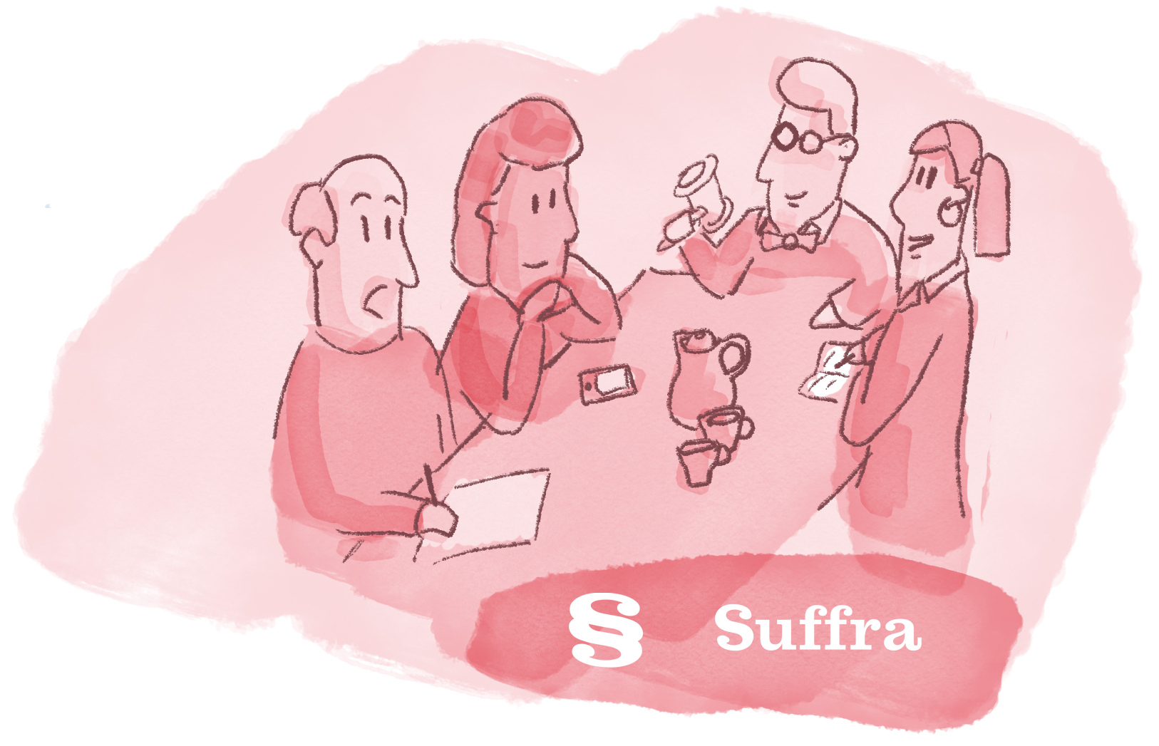 Suffra - Red Meeting Illustration